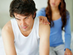 Couple struggling to re-establish their relationship